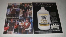 1984 Quaker state Motor Oil Ad - clean, easy to pour  - $14.99