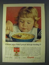 1958 Campbell's Chicken Vegetable Soup Ad - Have you had your soup today? - $14.99
