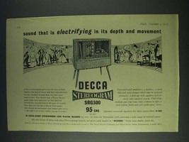 1958 Decca Stereogram SRG300 Ad - Sound that is electrifying in its depth - $14.99