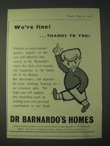 1958 Dr. Barnardo's Homes Ad - We're fine! thanks to you - $14.99