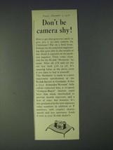 1958 Kodak Retinette Camera Ad - Don't be camera shy! - $14.99