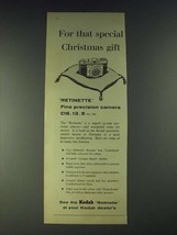 1958 Kodak Retinette Camera Ad - For that special Christmas gift - $14.99
