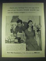 1958 Nestle's Home Made Assortment of Fine Chocolates Ad - thank you, da... - $14.99