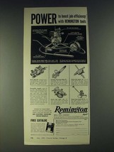 1958 Remington Tools Ad - Concrete Vibrator Model 7GVW, Planer Model 3P - $14.99