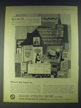 1958 Tube Investments Limited Ad - art by Heinz Kurth - As I see TI - $14.99