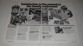 1986 Shopsmith Mark V Ad - Satisfaction is the reward of the family craftsman - $14.99