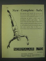 1959 Normalair Ltd. Underwater Swimming Set Ad - New Complete Safe - $14.99