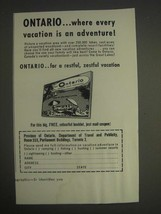1959 Ontario Canada Ad - where every vacation is an adventure! - $14.99
