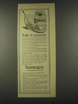 1959 Sanatogen nerve Tonic Ad - Take it seriously - $14.99