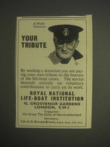 1959 Royal National Life-Boat Institution Ad - A Welsh Coxswain Your tri... - $14.99