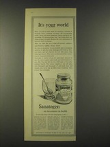 1959 Sanatogen Nerve Tonic Ad - It's your world - $14.99