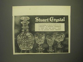 1959 Stuart Crystal Ad - Cut by the hand of a True Craftsman - $14.99