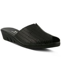 Spring Step Dejen Slide Sandal Black Croco, Size 39 EU / 8.5 US - $49.49
