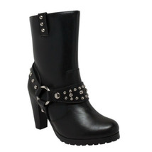 Women's Heeled Boot w/Studs Bike Motorcycle Gear & Apparel by Daniel Sma... - $129.95