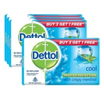 Dettol Cool Soap, 125 gm (Buy 3 + Get 1 Free) Free shipping worldwide - $26.72