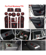 For Ford Mustang T70 Non-slip Interior Door Slot  Rubber Cup Holder Mat - $19.79