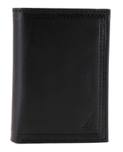 Nautica Men's Genuine Vintage Leather Credit Card Id Trifold Wallet image 4