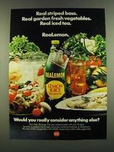 1983 Borden ReaLemon Lemon Juice Ad - Real striped bass - $14.99