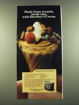 1983 Hershey's Cocoa Ad - Chocolate Mousse Recipe - $14.99