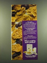1983 Kellogg's Nutri-Grain  Cereal Ad - More raisins than any other cereal - $14.99