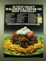 1983 Kraft Macaroni & Cheese Ad - Tostada Recipe - $14.99