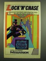 1983 Mattel Electronics Intellivision Lock 'n' Chase Video game Ad - $14.99