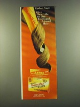 1983 Revlon Thermal-Tex Hot Oil Treatment Ad - give new life - $14.99