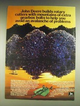 1984 John Deere Rotary Cutters Ad - Mountains of Extra Gearbox Bolts - $14.99