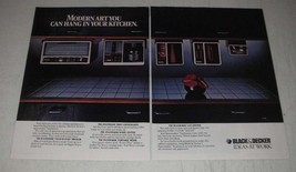 1985 Black & Decker Spacemaker Appliances Ad - Toast-R-Oven Broiler - $14.99