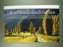 1987 New Zealand Tourism Ad - Life in New Zealand's fast lane - $14.99