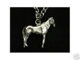 Good Luck Horse Racing Pendant Charm Silver Jewelry - $13.41
