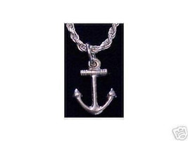Sterling Silver Anchor Pendant Charm Sailor Jewelry - $12.79