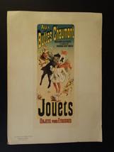 """ORIGINAL PRINT """"LES MAITRES DE L AFFICHE"""" JOUETS TOYS CHERET 1895 #141 - $350.00"""
