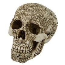 Aztec Skull Engraved with Aztec Motif Mexico Indio Aztlan Tenochtitlan S... - €25,23 EUR