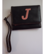 "Wallet Black and Pink with ""J"" Initial on Front - $3.99"