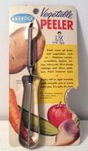 Vintage Androck Vegetable Peeler on Original Card Retro Kitchen Old Store Stock