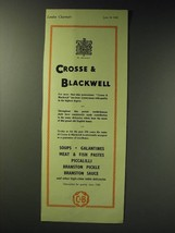 1942 C&B Crosse & Blackwell Food Ad - $14.99