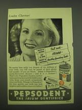 1942 Pepsodent Toothpaste Ad - Pepsodent the Irium Dentifrice - $14.99