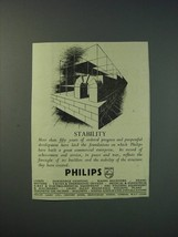 1942 Philips Lamps Ltd Ad - Stability - $14.99