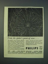 1942 Philips Lamps Ltd Ad - From the spider's point of view - $14.99