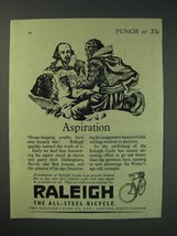 1942 Raleigh All-Steel Bicycle Ad - Aspiration - $14.99