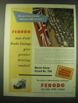 1953 Ferodo Brake Linings Ad - On cars that are new and cars that are not - $14.99