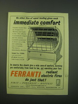 1953 Ferranti Model No. F3096 Radiant Electric Fire Ad - No other fire o... - $14.99