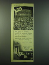 1953 Italian State Tourist Office Ad - Italy From Spring to Autumn - $14.99