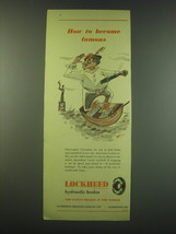 1953 Lockheed Hydraulic Brakes Ad - How to become famous - $14.99