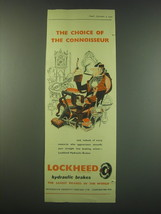 1953 Lockheed Hydraulic Brakes Ad - The choice of the connoisseur - $14.99