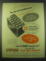 1953 Lucas Car Batteries Ad - You start with something extra - $14.99