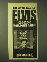 1964 Elvis Fun in Acapulco Record Album Ad - RCA Victor Salutes Elvis  - $14.99