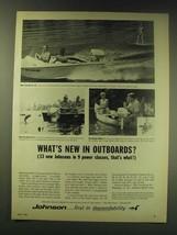 1964 Johnson Outboard Motors Ad - Sea-Horse 28, Sea-Horse 9 1/2, Angle-Matic 3 - $14.99