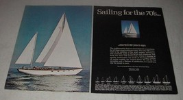 1970 Cheoy Lee Offshore 50 Yacht Ad - Sailing for the 70's - $14.99